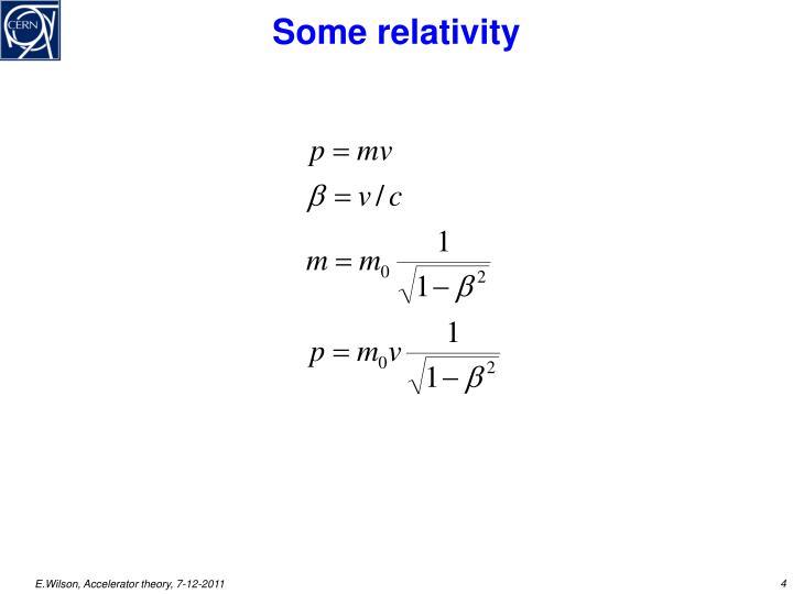 Some relativity