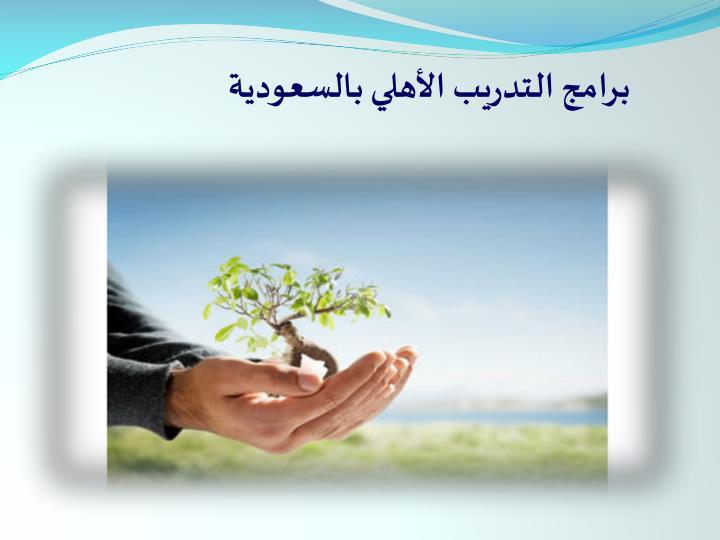برامج التدريب الأهلي بالسعودية