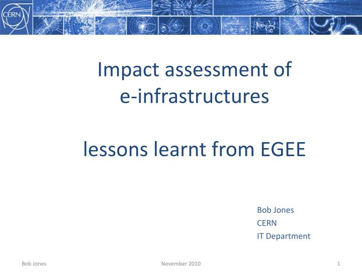 Impact assessment of