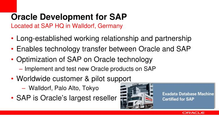 Oracle development for sap