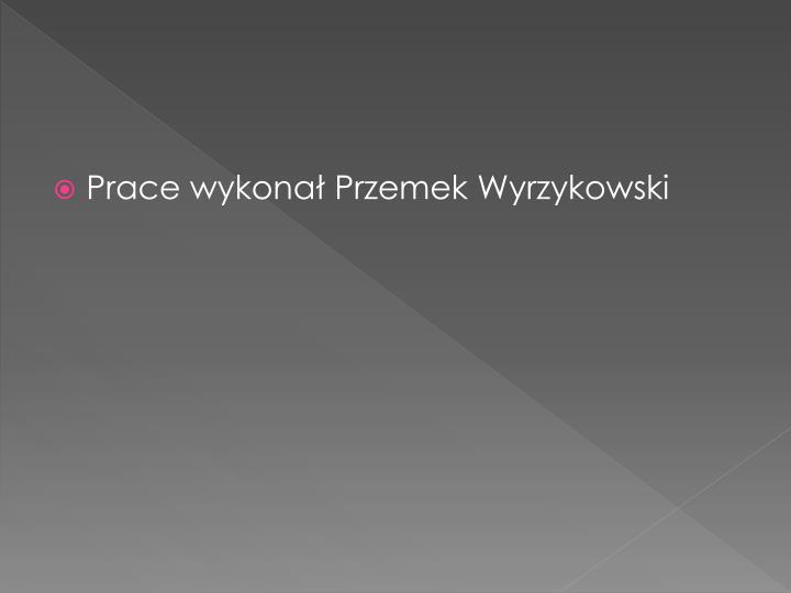 Prace wykonał Przemek Wyrzykowski