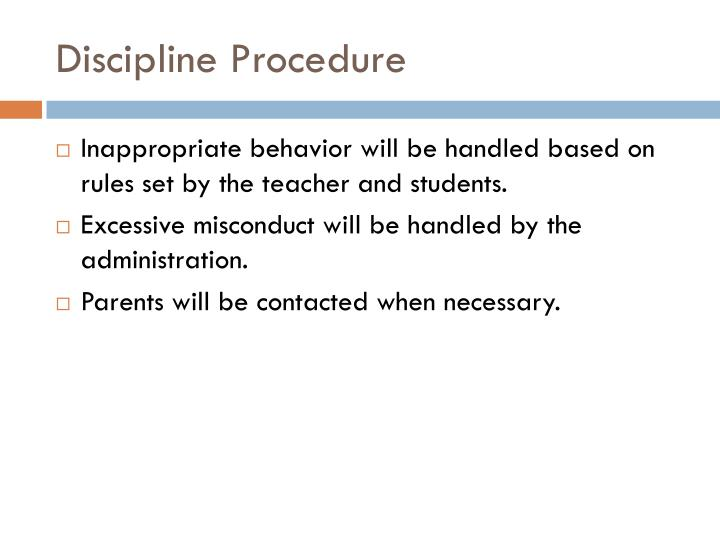 Discipline Procedure