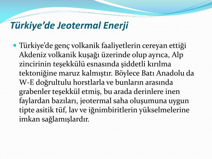 Trkiyede Jeotermal Enerji
