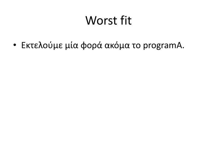 Worst fit