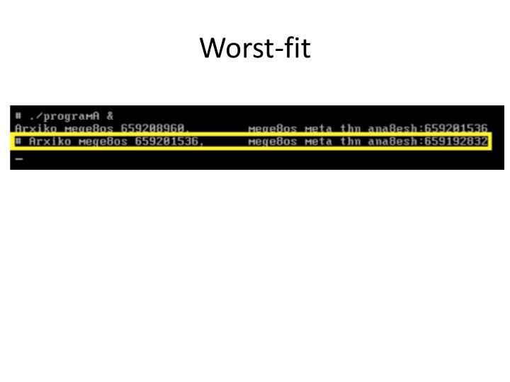 Worst-fit