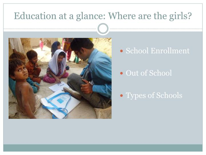 Education at a glance: Where are the girls?