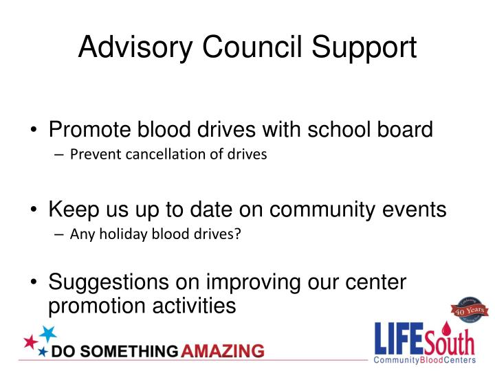 Advisory Council Support