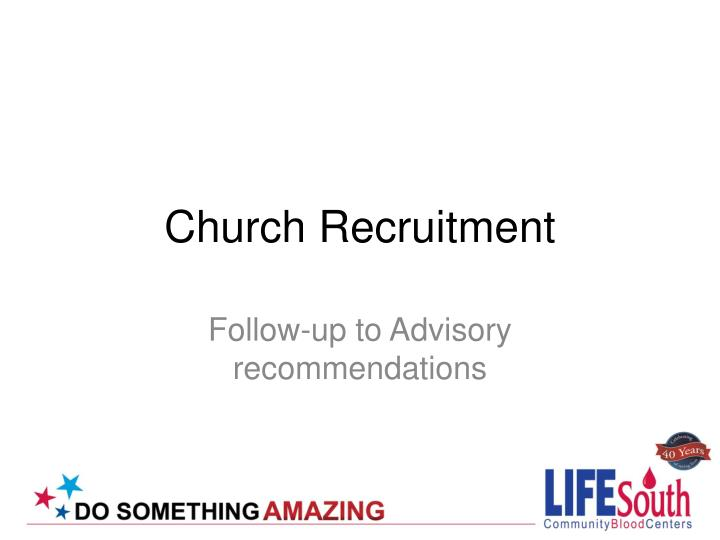 Church Recruitment