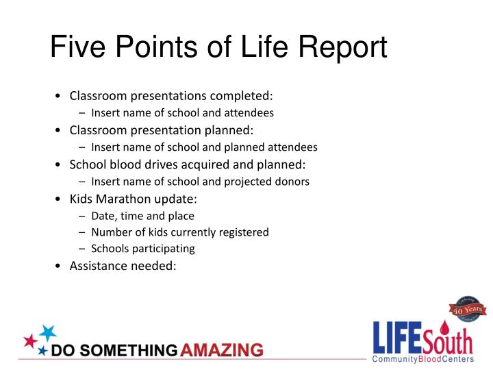 Five Points of Life Report
