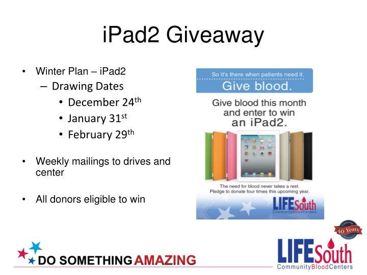 iPad2 Giveaway
