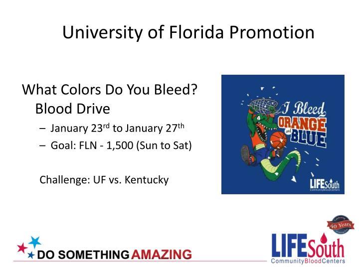 University of Florida Promotion
