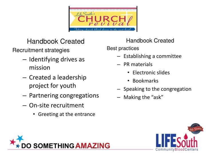 Handbook Created