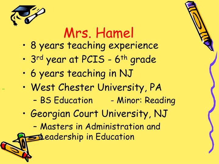 Mrs. Hamel