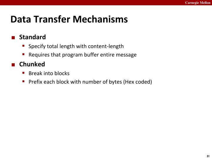 Data Transfer Mechanisms