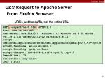 get request to apache server from firefox browser