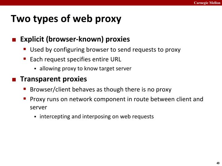 Two types of web proxy