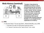 web history seminal