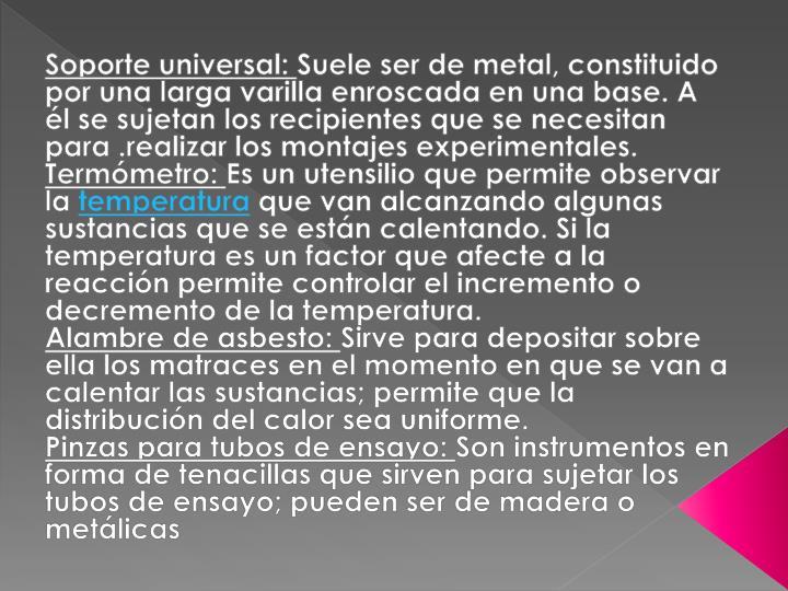 Soporte universal:
