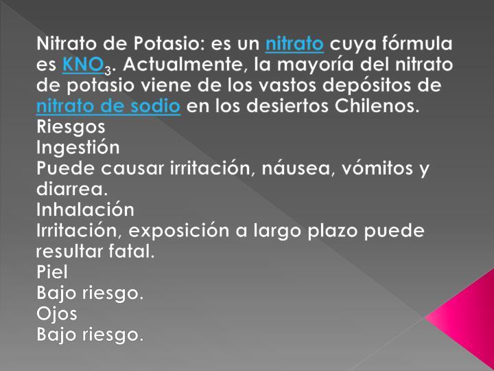 Nitrato de Potasio: