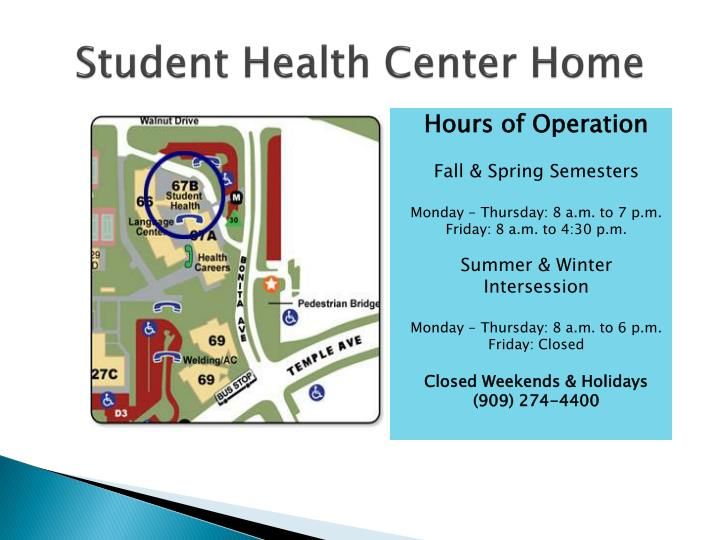 Student health center home