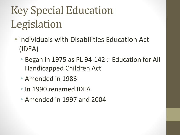 Key Special Education Legislation
