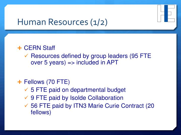Human Resources (1/2)