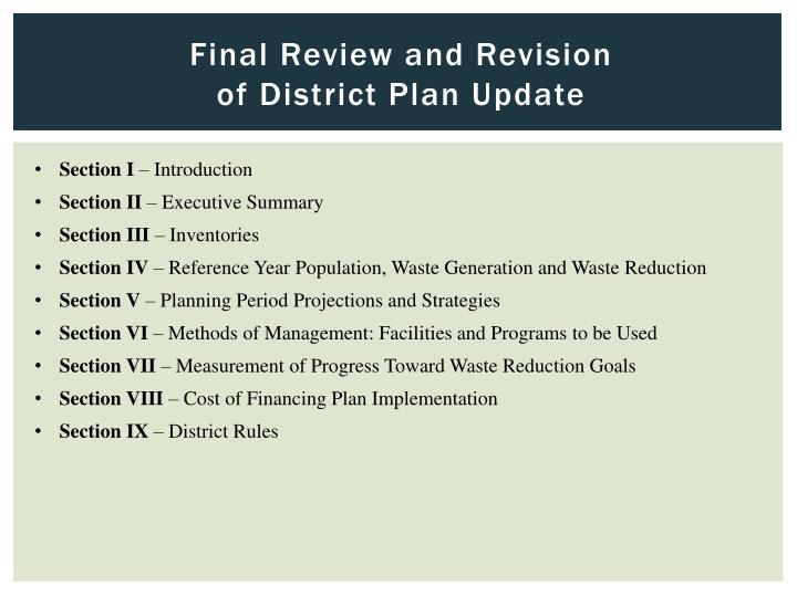 Final Review and Revision