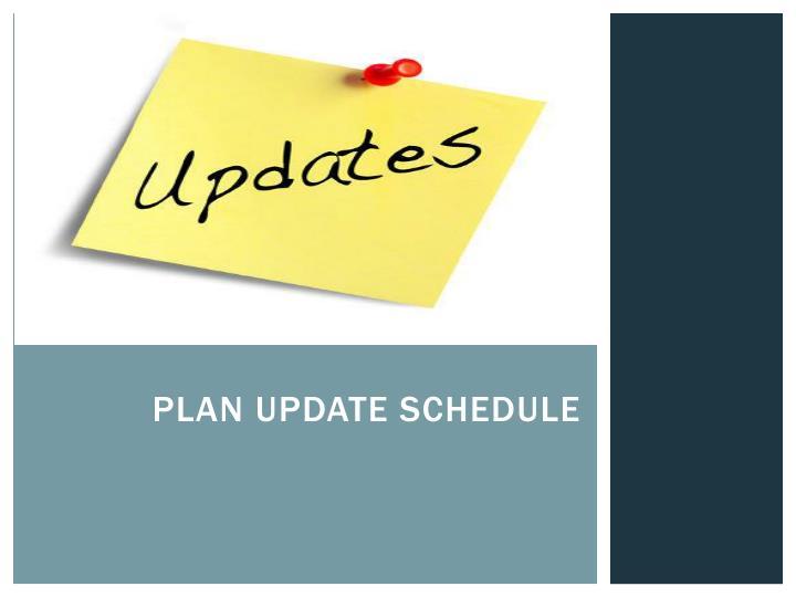 Plan update schedule