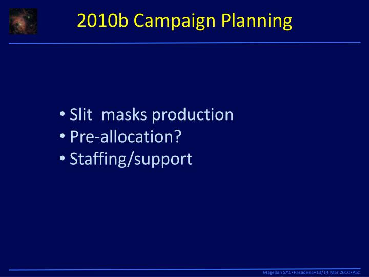 2010b Campaign Planning