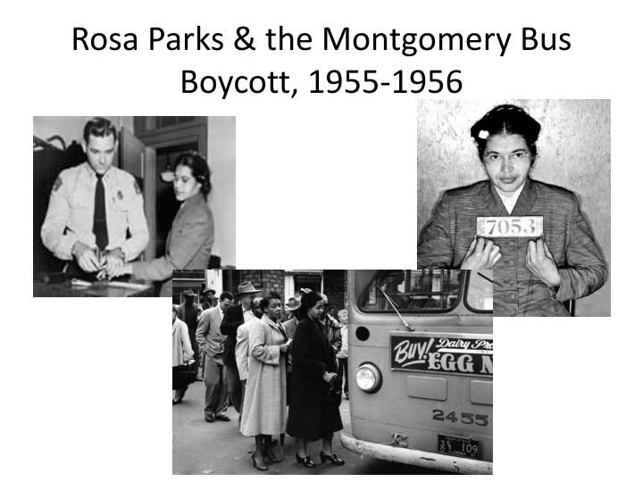 Rosa Parks & the Montgomery Bus Boycott, 1955-1956