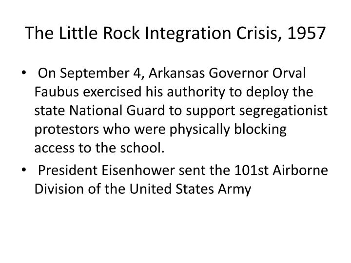 The Little Rock Integration Crisis, 1957