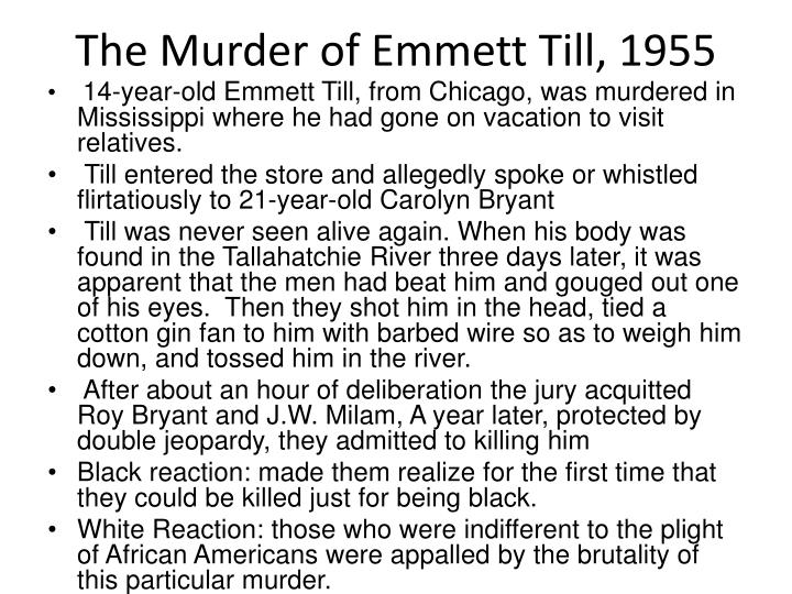 The Murder of Emmett Till, 1955