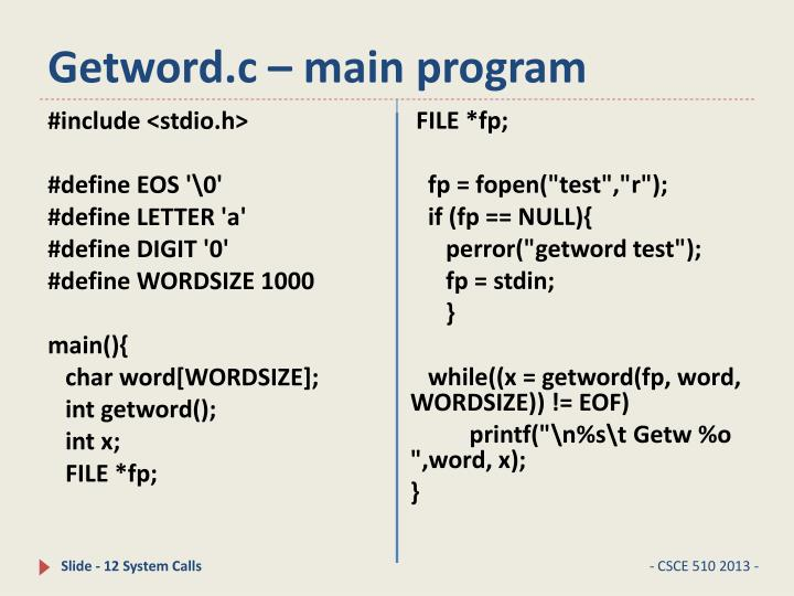 Getword.c