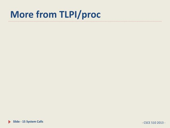 More from TLPI/