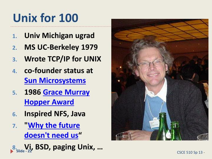 Unix for 100