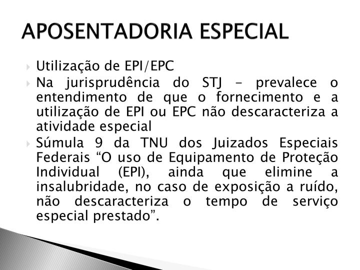 APOSENTADORIA ESPECIAL