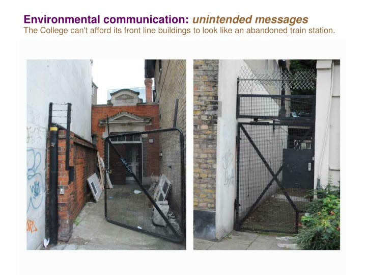 Environmental communication: