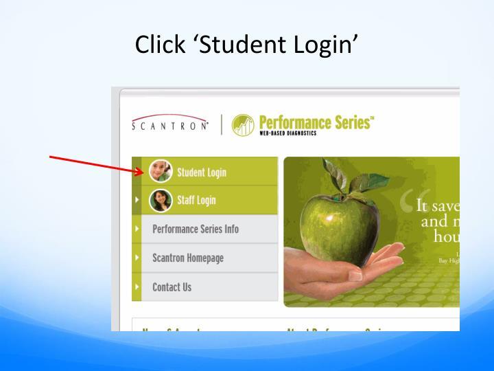 Click 'Student Login'
