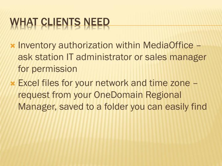 What clients need