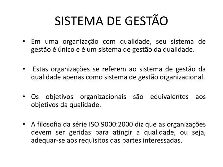 SISTEMA DE GESTÃO