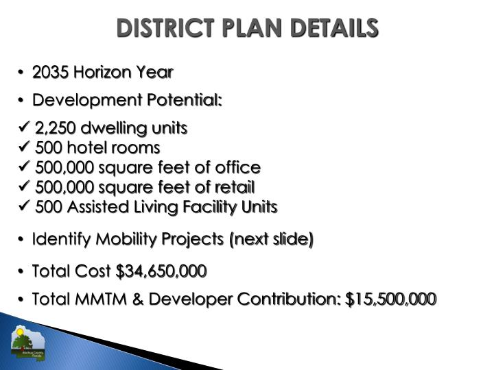 DISTRICT PLAN