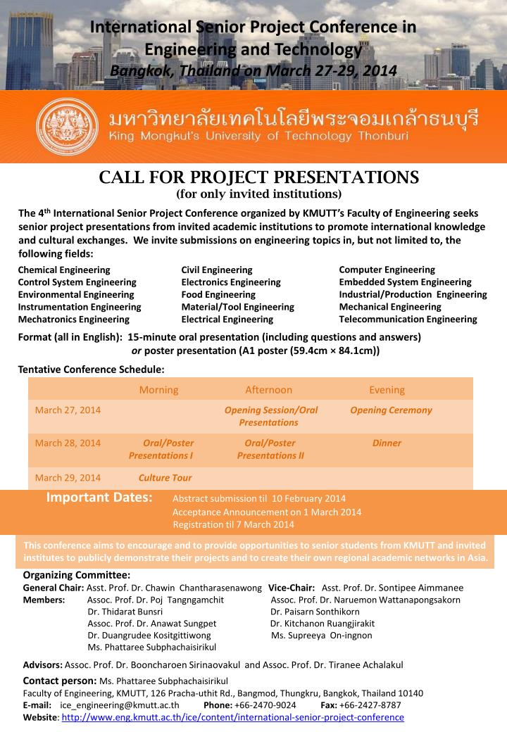 International Senior Project Conference in