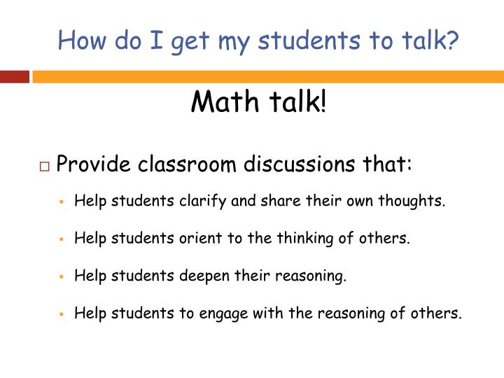 How do I get my students to talk?