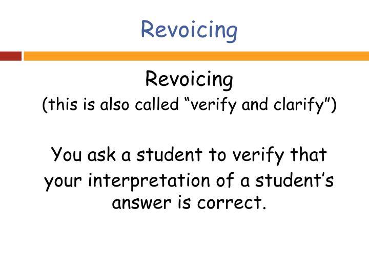 Revoicing