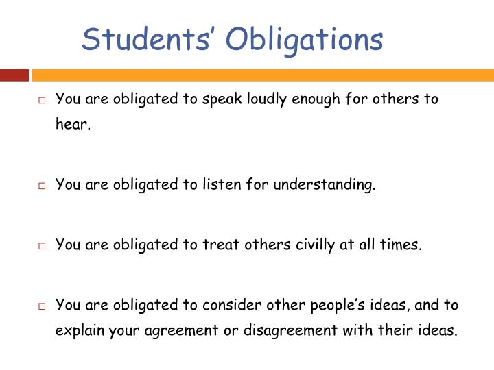 Students' Obligations