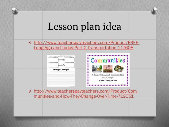 Lesson plan idea