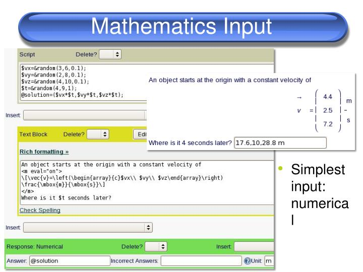 Mathematics Input