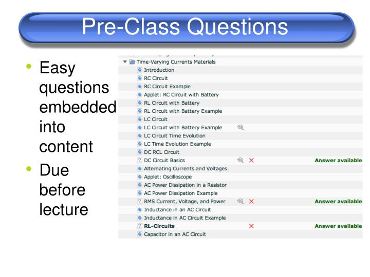 Pre-Class Questions