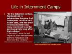 life in internment camps