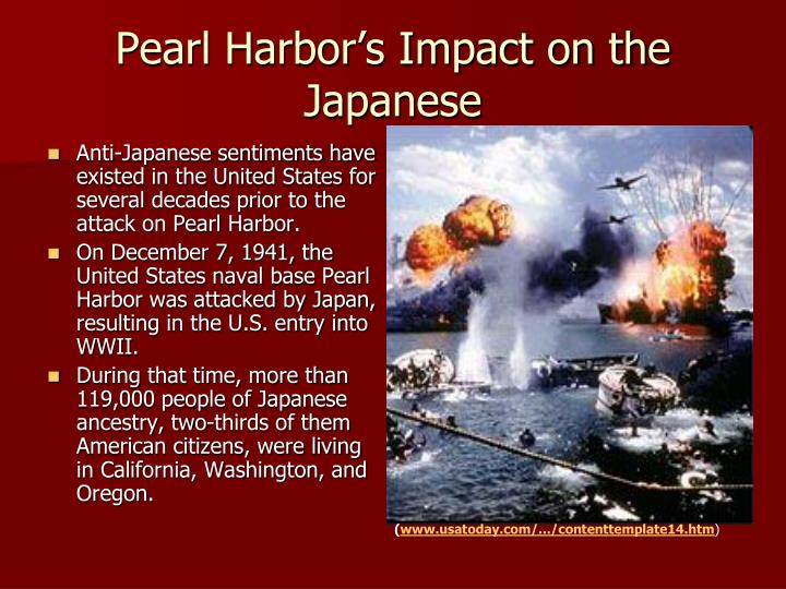 Pearl harbor s impact on the japanese
